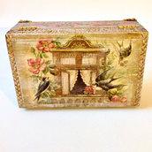 Cofanetto in legno Portagioie in legno Cofanetto artigianale Idea regalo Regalo per mamma Regalo per amica Oggetti in legno