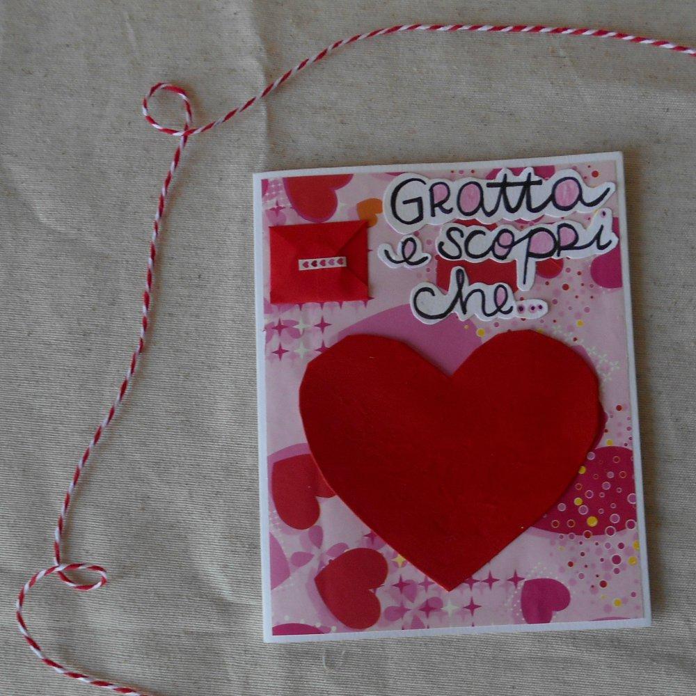 Gratta e vinci innamorato • Biglietto innamorato per San Valentino