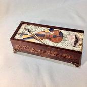 Portapenne in legno Scatola per portapenne Porta oggetti Porta occhiali da scrivania Scatola da scrivania Scatola artigianale Scatola in legno Idea regalo Regalo per amica