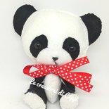 Panda innamorato in pannolenci fatto a mano