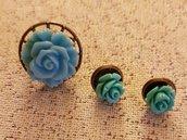 Anello ed orecchini con roselline