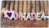 Annadea, Nome 3d,  Decorazione per cameretta bimba, regalo per lei