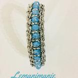 #bracciale #chainmail #swarovsky #celeste