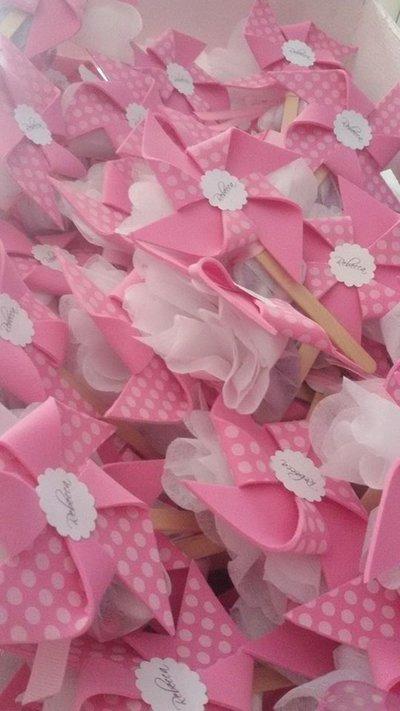 Girandole fommy gomma eva idea nascita segnaposto rosa