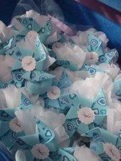 Girandole in feltro e cartoncino - boy - azzurre idea nascita compleanno