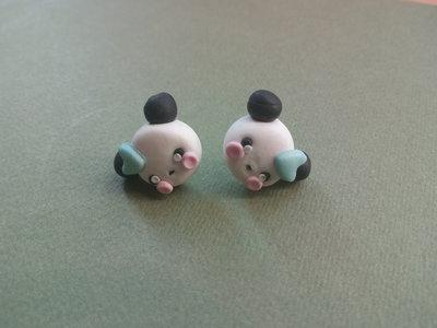 orecchini a forma di panda