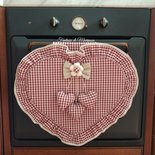 Copriforno cuore country chic