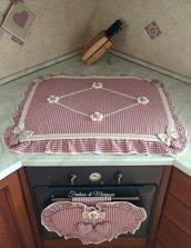 Set cucina copriforno, coprifornelli, presine