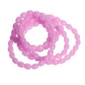 1 filo di Perle perline divisori spaziatori colore ROSA 8 mm