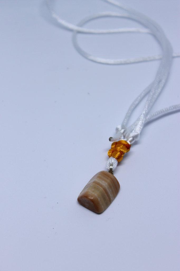 collana agata striata arancione