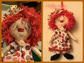 Bambola in stoffa Raggedy-Lu Red Bubbles - I Pallini di Lu