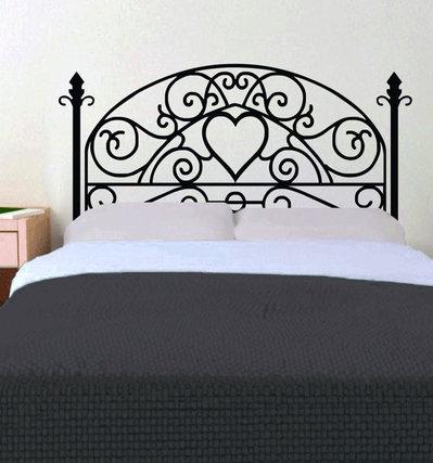 Testiera letto adesiva con cuore per la casa e per te camera da su misshobby - Testiera letto adesiva ...