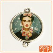 Connettore con cameo Frida Kahlo 20mm