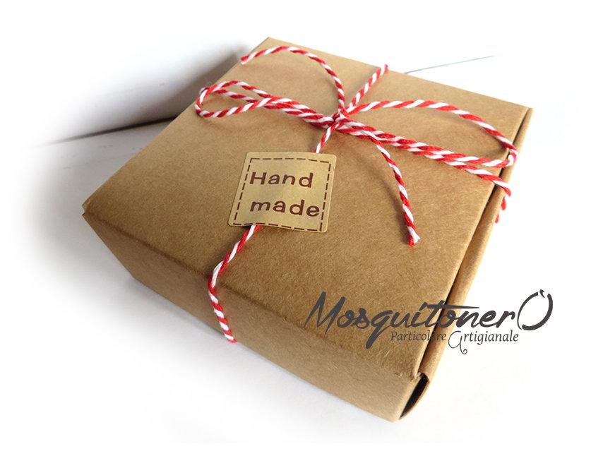 Scatola regalo quadrata o rettangolare per Bracciali Acquistati da MosquitoneroShop