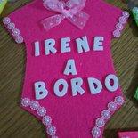 "Body "" bimbi a bordo "" in feltro"