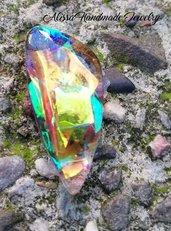 Cabochon Personalizzati in Angelina Film e Resina UV - Aurora Borealis - Enchanted Forest - Mint Sparkle - Peacock Green - Watermelon