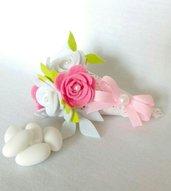 Segnaposto bouquet in feltro