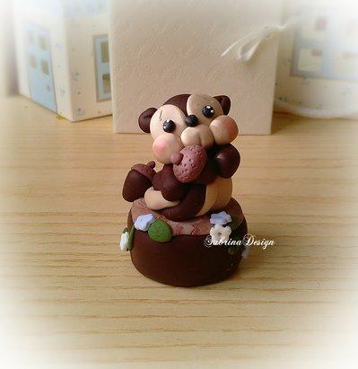 Cake topper scoiattolo torta animali foresta nascita battesimo comunione compleanno cake topper animali