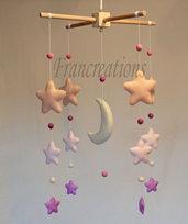 Giostrina culla - Baby  mobile pannolenci  - Mobile pannolenci - Carillon - Decorazione culla - Decorazione cameretta - Giostrina stelle - Giostrina nanna - Giostrina luna