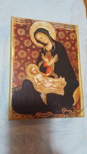 tela con madonna e bambino