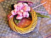 Mini ghirlanda con fiore