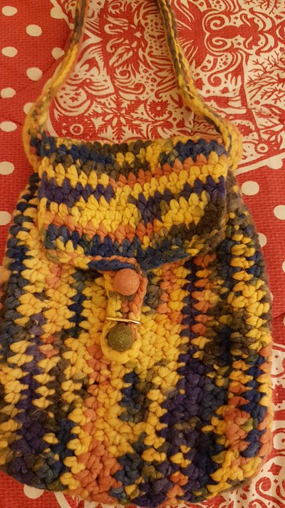 Borsa a tracolla in lana merinos