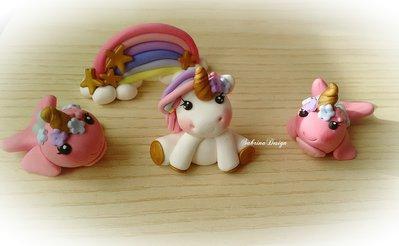 Cake topper unicorno arcobaleno balena torta compleanno nascita battesimo comunione festa unicorno