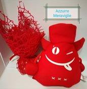 Bomboniera laurea diavoletto scacciapensieri pupazzetto rosso festa