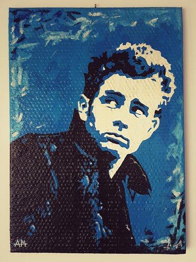 Jemes Dean ritratto dipinto a mano