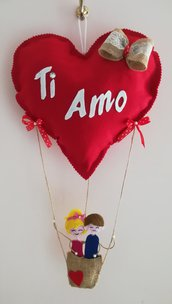"""Cuore mongolfiera """"love in the sky"""""""