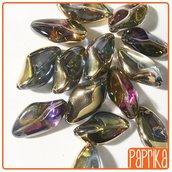 10 Perline irregolari in Vetro AB 13x23mm