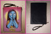 "Pochette o borsetta da polso in ecopelle nera ""Sally"" da Nightmare Before Christmas"