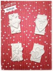 4 Gessetti Tag in Love /San Valentino/Amore/Cuori