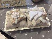 sacchetti cuscinetti portaconfetti bomboniera matrimonio,promessa, battesimo con gessetti profumati