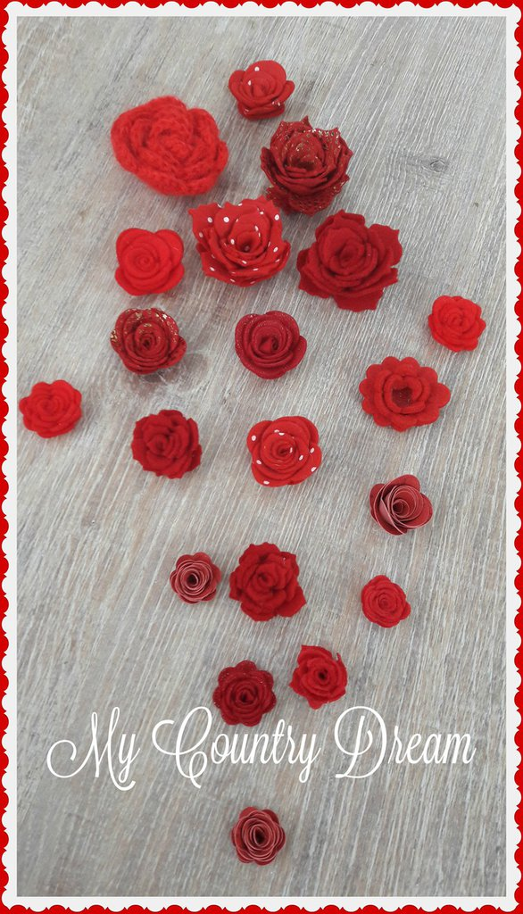 Mix rose rosse