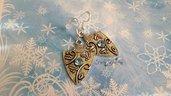 Orecchini chaton swarovski monachelle argento 925 bigiotteria bijoux gioielli idea regalo