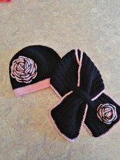 Set cappello + sciarpa per bambina