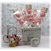 Spiedini in Marshmallow Minnie Baby Personalizzati NOME ANNI o Evento Spiedino