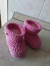 Babbucce scarpe lana baby uncinetto fatto a mano idea regalo shopping