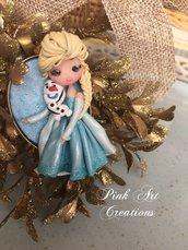 Non più disponibile-Collana ciondolo Elsa e Olaf