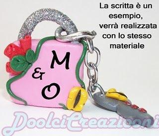 Lucchetto dell'amore con le vostre iniziali!!!
