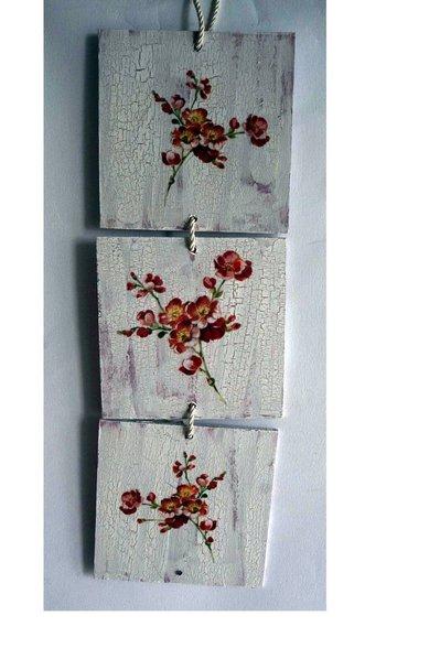 Quadri in  legno decorati al decoupage