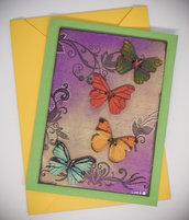 "Card ""Butterflies flying"""