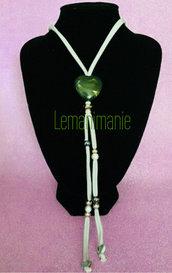 #collana #grigio  #verde #fettuccia #lycra  #swarovski