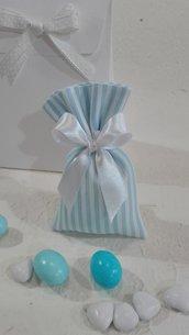 5 mini sacchetti porta confetti piquet azzurri PIQ/1 azzurro