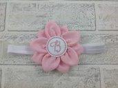 Fascia per capelli Fiore Rosa personalizzata - Bimba Neonata