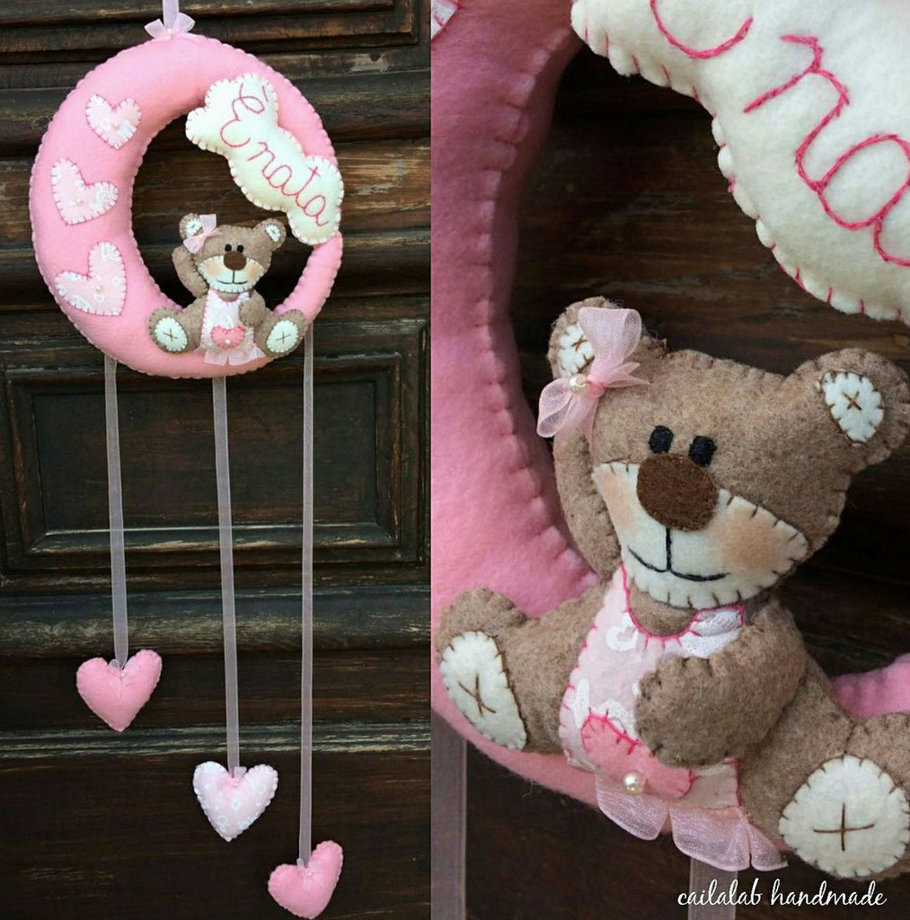 Fiocco nascita con orsetto