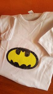 "T-shirt"" Batman "" caldocotone bambino dipinta a mano."