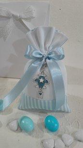5 sacchetti medi piquet azzurro e bianco PIQ/4 azzurro