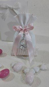Confezione da 5 sacchetti medi piquet rosa e bianco PIQ/4 rosa